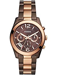 Women's 'Perfect Boyfriend' Quartz Stainless Steel Casual Watch, Color:Brown (Model: ES4284)