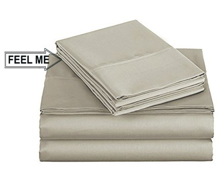 Stitch Material (500 Thread Count 100% Long Staple Cotton Bed Sheet Set with Z Hem Stitch & Non shrinkable Material Luxurious Hotel Collection 4 Piece ( 1 Flat Sheet1 Fitted sheet & 2 Pillowcases ) ( Twin, Sand ))