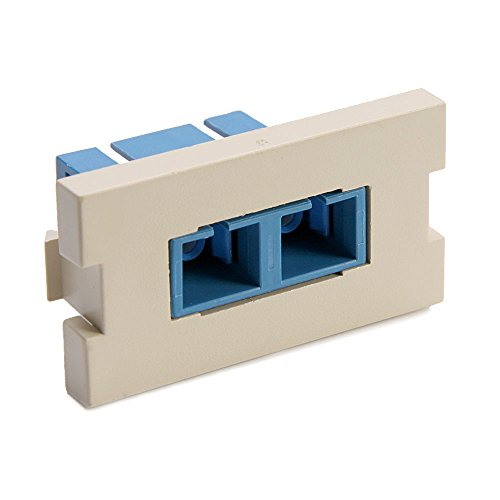 Multimode Duplex Ceramic - Leviton 41291-2CI 1 Duplex SC, Zirconia Ceramic, Single Mode/Multi Mode, Blue, 1-Unit High, Ivory