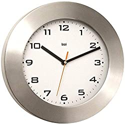 BAI Brushed Aluminum Wall Clock, Gotham