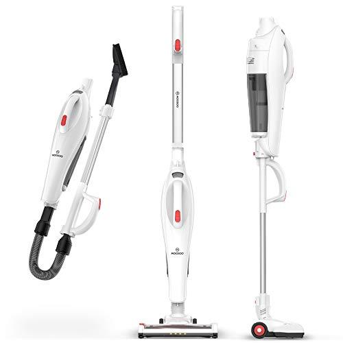 MOOSOO Cordless Vacuum Cleaner, Stick Vacuum with 17Kpa Powerful Suction 5 in 1 Lightweight Versatile Upright Vacuum for Home Hard Floor Carpet Car Pet U19