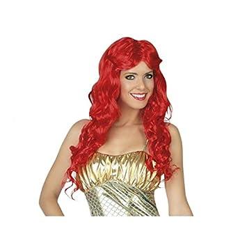 Atosa C/pvc peluca roja larga con ondulaciones