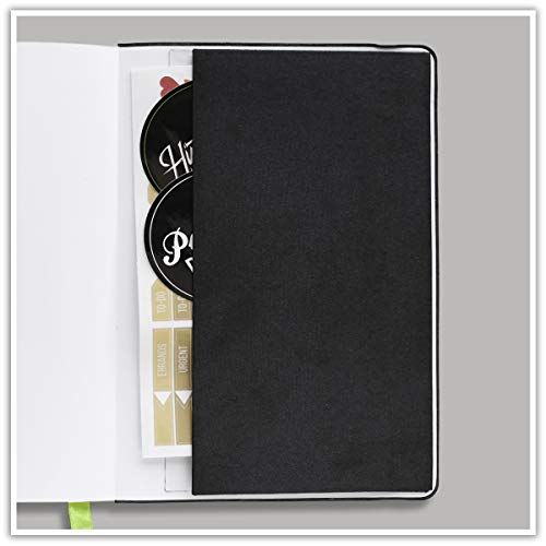 "Passion Planner Medium Undated - Goal Oriented Daily Agenda, Appointment Calendar, Reflection Journal - (B5-7"" x 10"") Monday Start (Elite Black)"