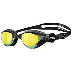 arena Cobra Tri Goggle for Triathlon and Fitness with Swipe Anti-Fog, Easy to Adjust, Crystal Clear Wide Vision with UV…
