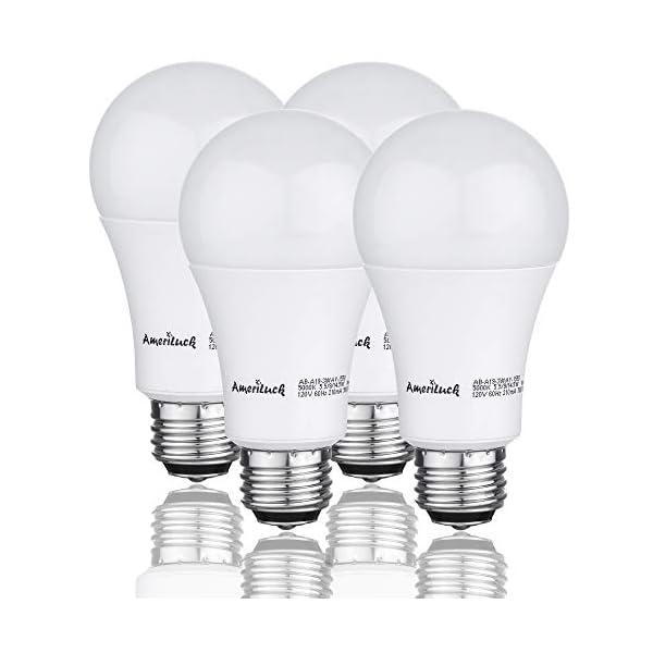 Ameriluck 5000k Daylight 3 Way Led Light Bulb A19 40 60 100w