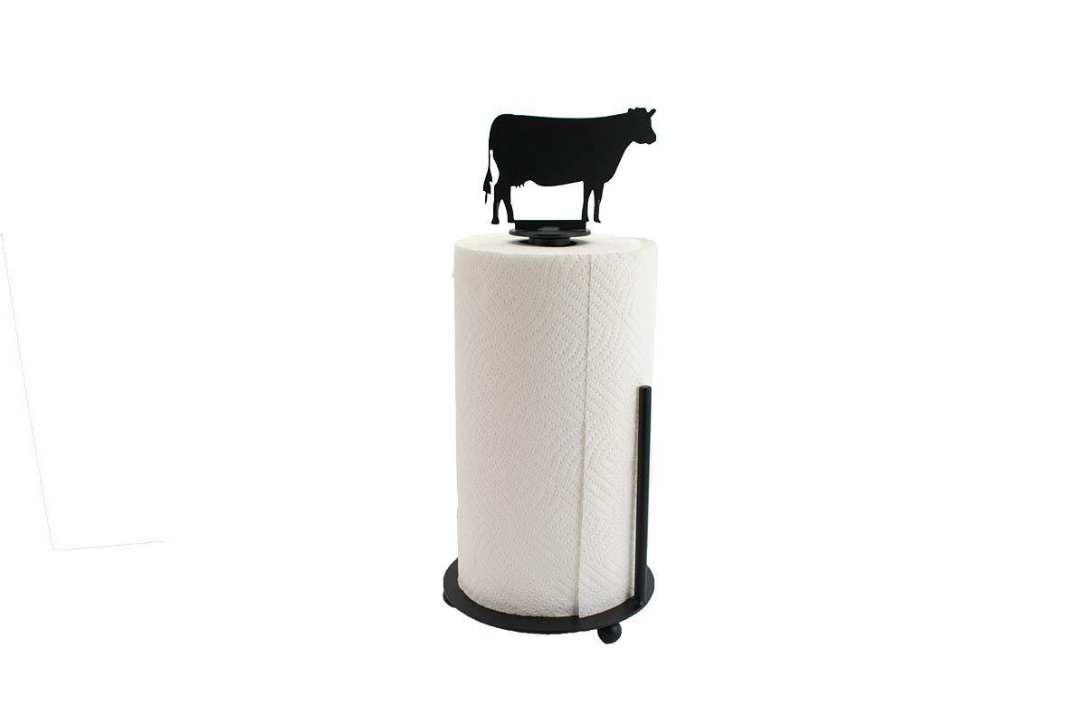 Cow Paper Towel Holder - Farmhouse Kitchen Decor - Metal Paper Towel Holder - Kitchen Decor - Farmhouse Kitchen Decor - Standing Holder