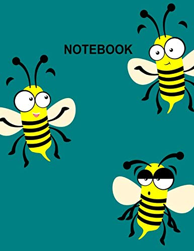 - Notebook. Honey Bee Cover Design. Blank Lined College Ruled Notebook Planner Journal Diary.