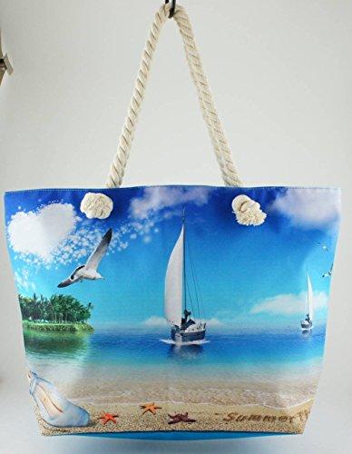 """Stampato Spiaggia/borsa 51cm–�?Yacht """""""
