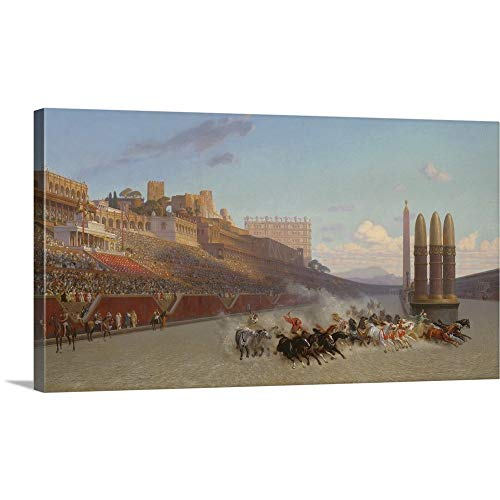 Gallery-Wrapped Canvas Entitled Chariot Race, 1876 by Jean Leon Gerome 60