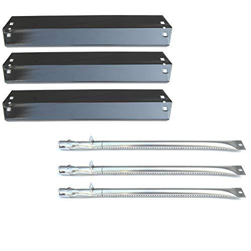 Direct store Parts Kit DG151 Replacement Chargriller 3001,3008,3030,4000,5050,5252; King Griller 3008,5252 Gas Grill Burner & Heat Plate (SS Burner + Porcelain Steel Heat Plate) ()