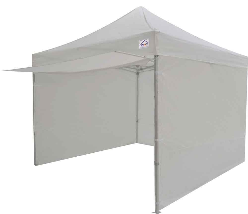 Impact Canopies 10x10 Easy Pop Up Canopy Tent With Sidewalls And Awning Black Amazonca Patio Lawn Garden