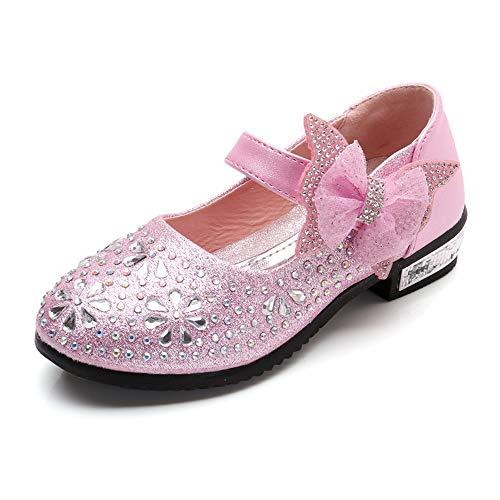 - SOFMUO Little Girls Ballet Mary Jane Flats Sparkle Ballerina Wedding Party Princess Dress Shoes (Toddler/Little Kids) Pink,26
