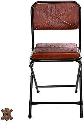 Indhouse - Silla Vintage Plegable con Estilo Industrial en ...