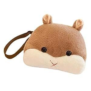 Fenteer Cute Hamster Animals Child Shoulders Bag Kids Book Backpack Baby Girls Bag - Brown