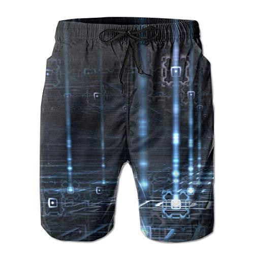 Quantum Boardshorts - Mens Quantum Physics Light Shorts Pockets Swim Trunks Beach Shorts,Boardshort