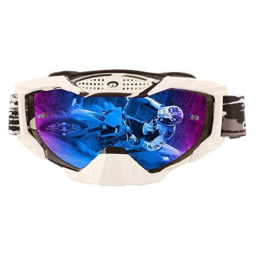 AMDXD TPU Motorcycle Eyewear Cycling Sports Glasses Ski Goggles Dust Protection Anti-Fog Safety Goggles Outdoor Protection for Skiing Snowmobile Motorcycle Bike,Black ()