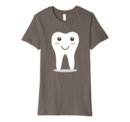 Cute Tooth Fairy Costume Ideas (Womens Tooth Fairy Shirt - Cute Halloween Costume - Smiling Tooth XL Asphalt)