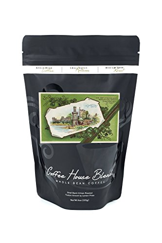 St. Patrick's Day Greeting - Shane's Castle Scene (8oz Whole Bean Small Batch Artisan Coffee - Bold & Strong Medium Dark Roast w/ Artwork)
