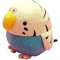 Soft and Downy Medium Bird Stuffed Toy Doll (Budgerigar / Blue M Size 12cm)