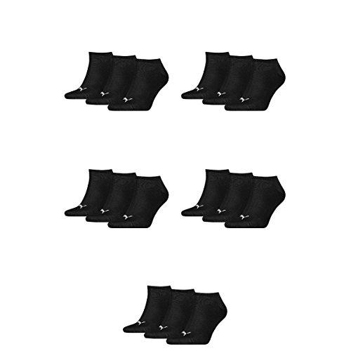 Mens Unisex 200 amp; 15 Pair Black Ladies Socks Sneaker Puma Invisible OpxYTn4qwF