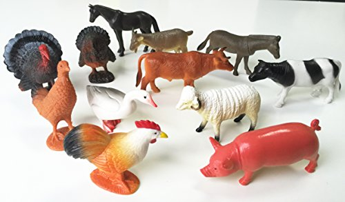 - GiftExpress Large Farm Animals 12 Piece