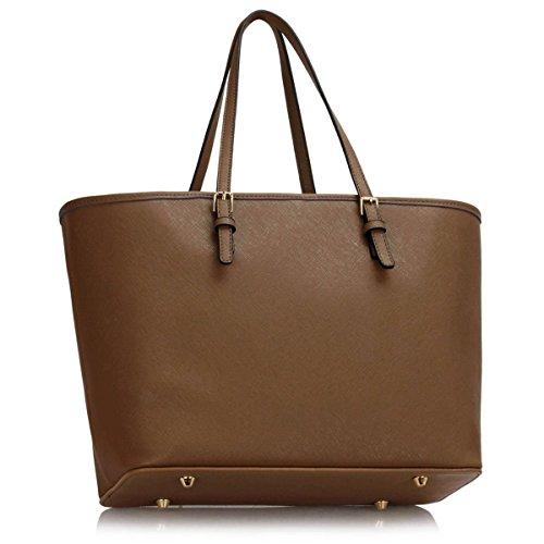 Xardi Ladies Travel Plain Tote Leather London Women Shoulder Floral Taupe Handbag Faux Designer Bag Large AAaqHwF
