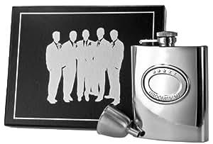 Visol VSET59-2055 5 Stars Groomsman Stainless Steel Flask Gift Set, 8-Ounce, Silver