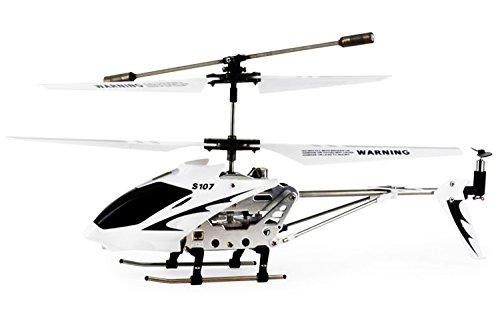 Syma 3 Channel S107/S107G Mini Indoor Co-Axial R/C Helicopter w/ Gyro (White Color) - http://coolthings.us