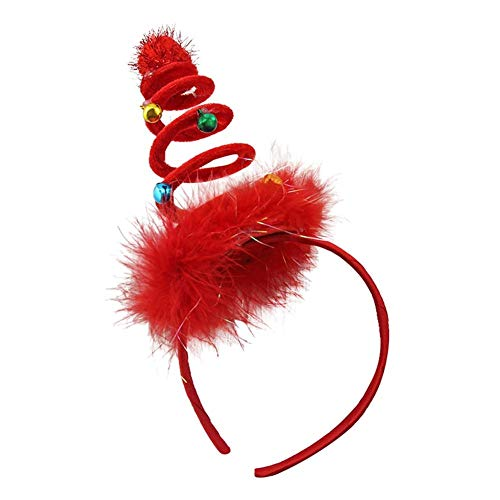 Christmas Headband for Holiday Costume Party Antler Headband Hair Hoop Children's Beautiful Hair Ornaments Shiny Halloween Hairband for Adult Kids Two Colors by iShine -