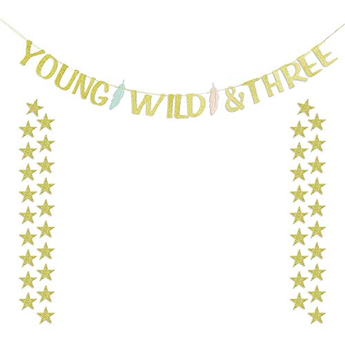 Young Wild and Three Feather Banner with 40