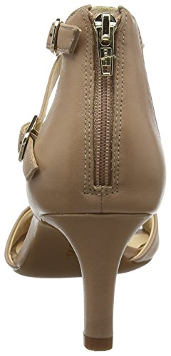 Donna Clarks beige Caviglia Cinturino Beige Alla Sandali Con Laureti Leather Pearl qrSwqp0H
