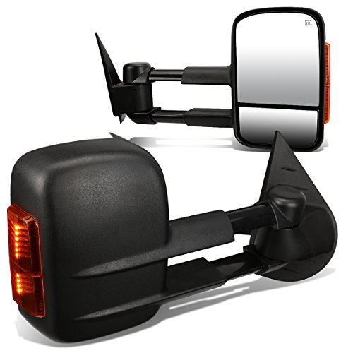 Silverado / Sierra HD Pair of Black Powered + Heated Glass + Signal + Manual Extenable Side Towing Mirrors