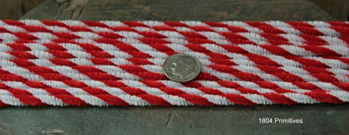 Primitive & Country Style 72 Chenille Candy Cane Pipe Cleaners / 6mm Red & White Twist Rustic Home Decor