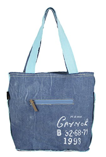 compra tela Vintage Sunsa señora Bolso de Bolso hecho de mano 51877 de cuero bolso tela de con hombro 6nq5BBx1Aw