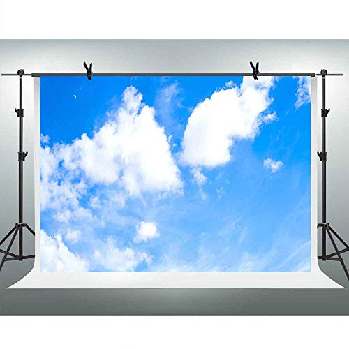 - Nature Landscape Background FHZON 10x7ft White Cloud Blue Sky Photography Backdrop Wallpaper Decoration for Baby Room Video Props LXFH269