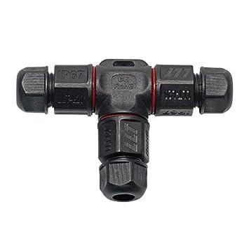 3 Polig Wasserdicht Kabelverbinder IP67 Dosenmuffe T-Form Erdkabel Kabelmuffe DE