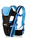 Baby Carrier- Age 0-36 months; Newborn - Infant - toddler. Cozy and Comfortable - Great Back Support for Baby - 100% Cotton - (Blue).