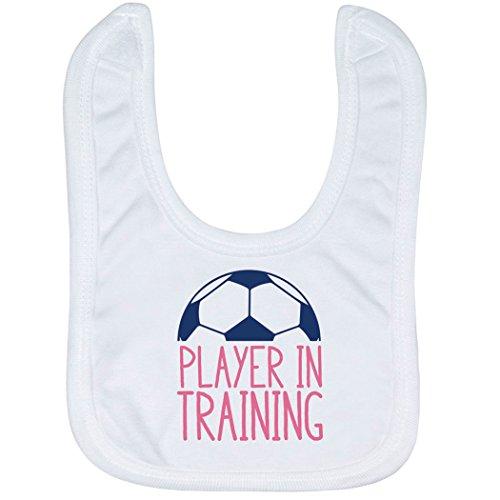 Soccer Baby & Infant Bib | Player in Training | Soft Microfiber Bib | Navy