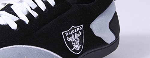 Happy Feet & Comfy Feet - OFFICIALLY LICENSED Mens and Womens NFL All Around Slippers Oakland Raiders WFCofLm