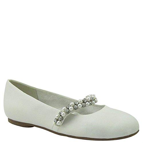 Nina Kid Nataly White Girls Flats Shoes - Size 5M