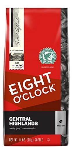 Eight O'Clock Whole Bean Central Highlands 11 Oz Bag (Pack of Four)