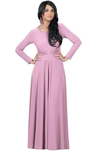 mens Long Full Sleeve Sleeves Flowy Empire Waist Fall Winter Modest Formal Floor Length Abaya Muslim Gown Gowns Maxi Dress Dresses, Dusty Pink 2 X 18-20 (5) (Waist Matte Jersey Dress)