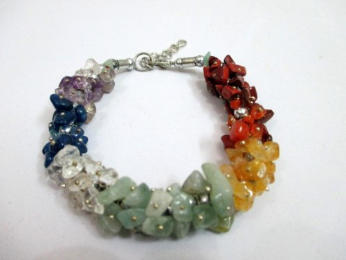 crystal chip bracelet - 6