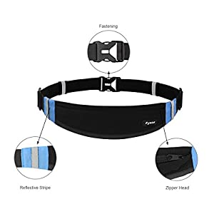 Ryaco [Expanded pocket] R904 Running belt, Outdoor Sports Reflective Waist Pack, Fitness Workout Belt, Race Belt, Fanny Pack, Workout Pouch for iPhone 7/7 Plus,6S/6S Plus,5/5S/SE
