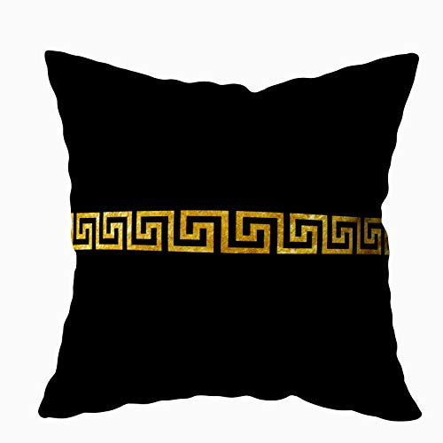 (Capsceoll Halloween Greek Key Pattern Decorative Throw Pillow Case 16X16Inch,Home Decoration Pillowcase Zippered Pillow Covers Cushion Cover with Words for Book Lover Worm Sofa Couch)