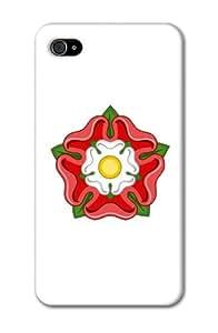 LJF phone case Case Fun Apple iPhone 4 / 4S Case - Vogue Version - 3D Full Wrap - England Rose