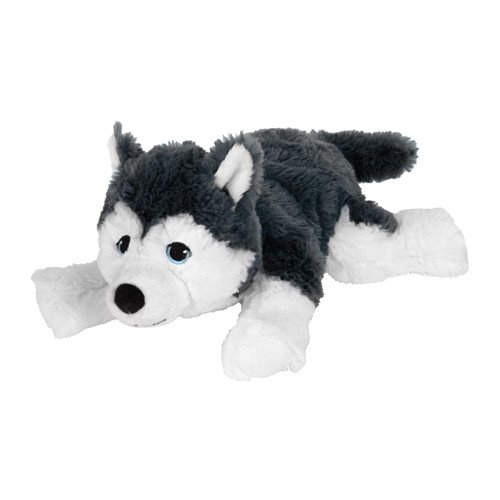 - IKEA LIVLIG Soft Toy Dog Siberian Husky