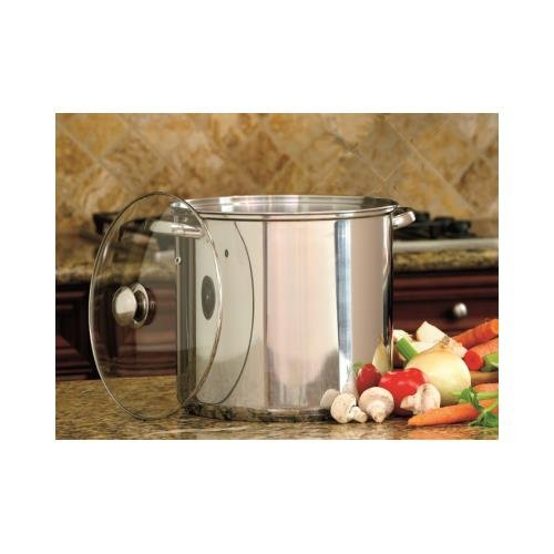 Cookpro 550 Steel Stockpot 16Qt With Glass (Stock Glass)