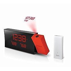 Oregon Scientific RMR221PN/BOXR Prysma Atomic Projection Clock, Red