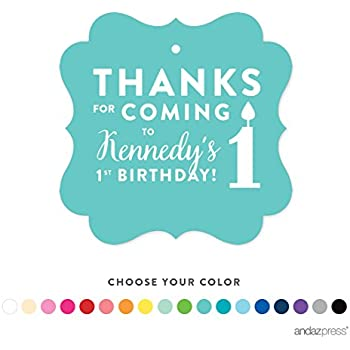 amazon com andaz press personalized circle birthday gift tags